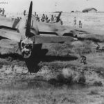320th BG B-26 after crash landing at North African base 1943