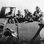 323rd Bomb Group Crew in Damaged B-26C-6-MO Marauder Miss Emily