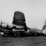 397th Bomb Group 596 BS B-26 Marauder 42-96154 after a crash landing in France 24 February 1945