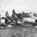397th Bomb Group B-26 By Golly after crash landing in France 1944