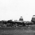 A pair of 323rd BG B-26B and C Marauders after an accident on a French airfield