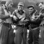 B-26 Marauder Bomber Bob Robin Nose Art and Crew 9th Air Force