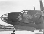 B-26 Marauder Bomber Lonesome Pole Cat Nose Art