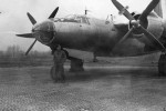 B-26 Marauder bomber front view