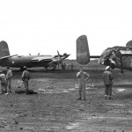 B-26 and B-25 ground collision at New Caledonia in the South Pacific March 11 1943
