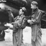 Crew loading ammunition belts on 9th AF Marauder 44