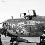 "Flak riddled B-26 ""Truman Committee"" of the 322nd BG"