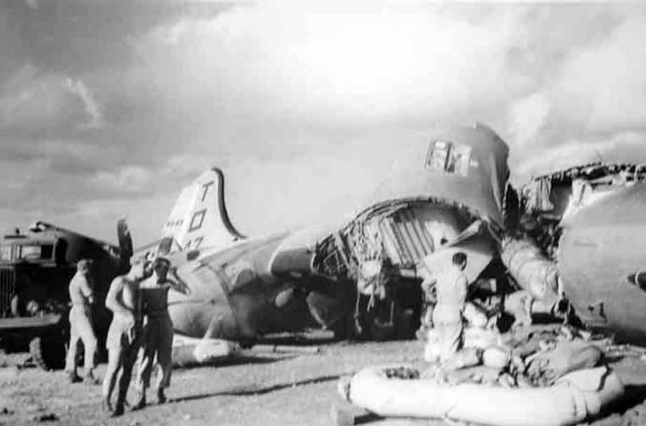 498th Bomb Group B-29 destroyed