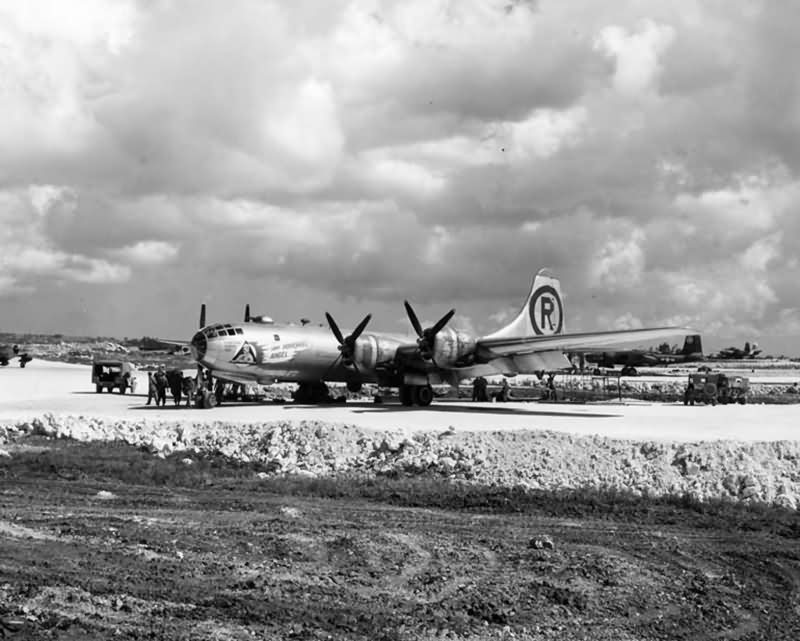 6th bomb group B-29 Superfortress Dearly Beloved on Okinawa August 1945