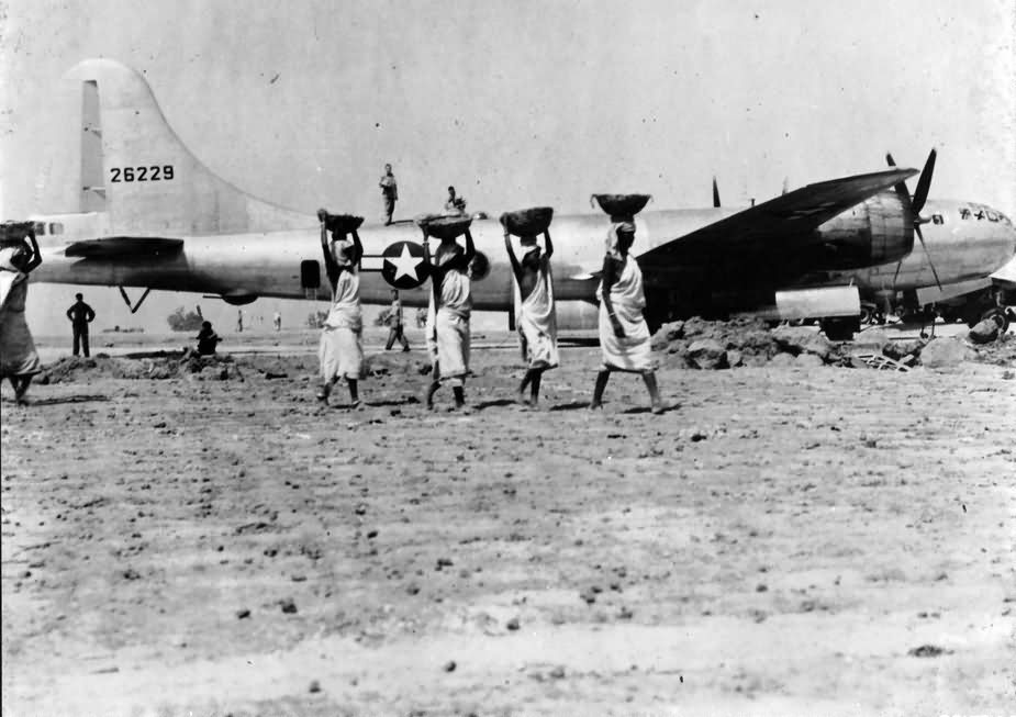 B-29 Superfortress 42-6229 air base in India june 1944