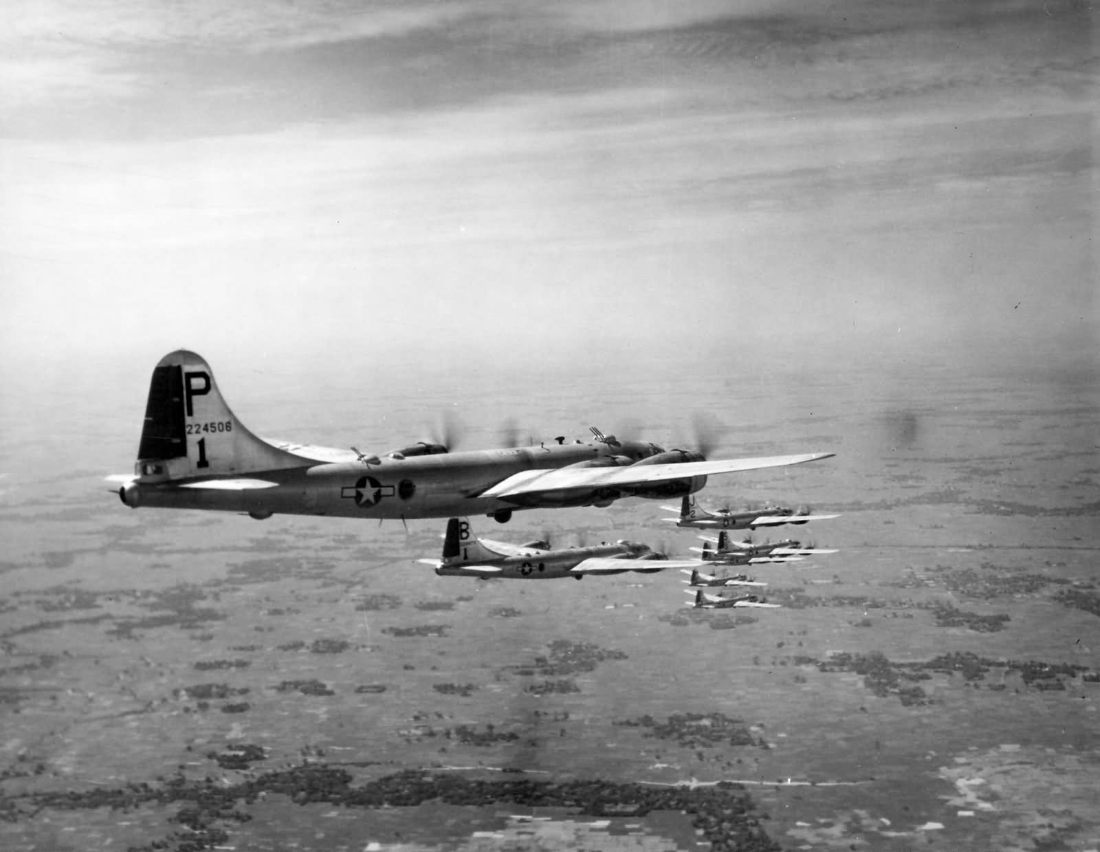 B-29 462nd formation over India in the fall of 1944 42-24506
