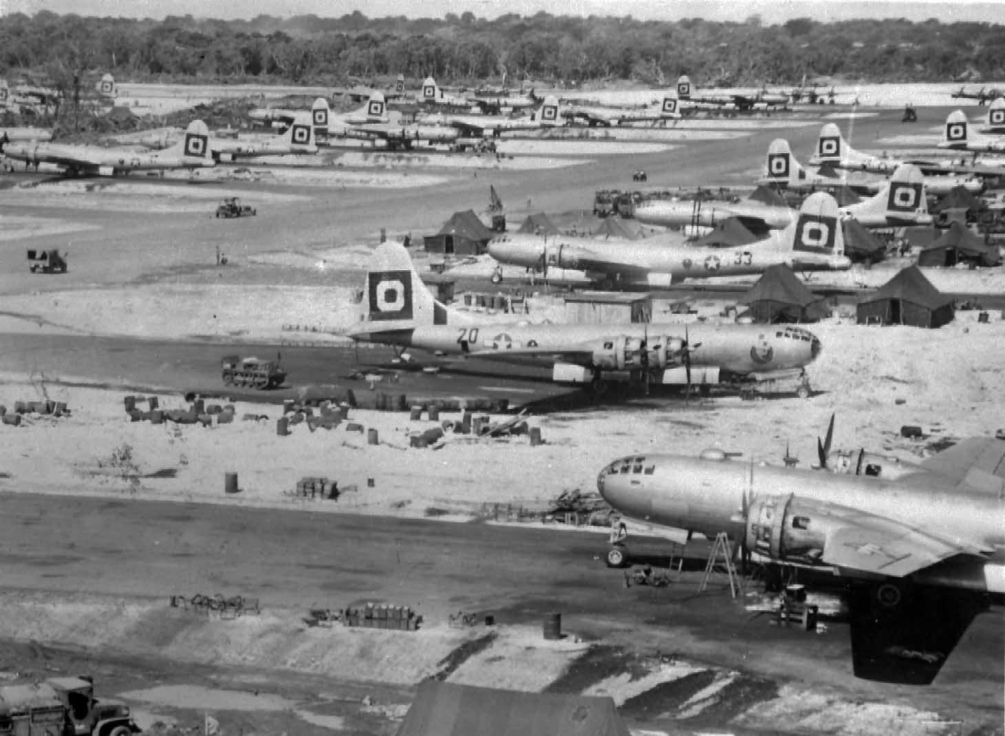 B-29 29th Bomb Group bombers base – Guam