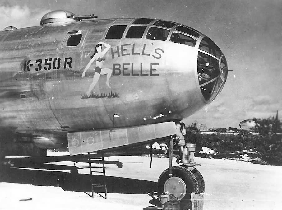 B-29 Superfortress bomber HELL BELLE