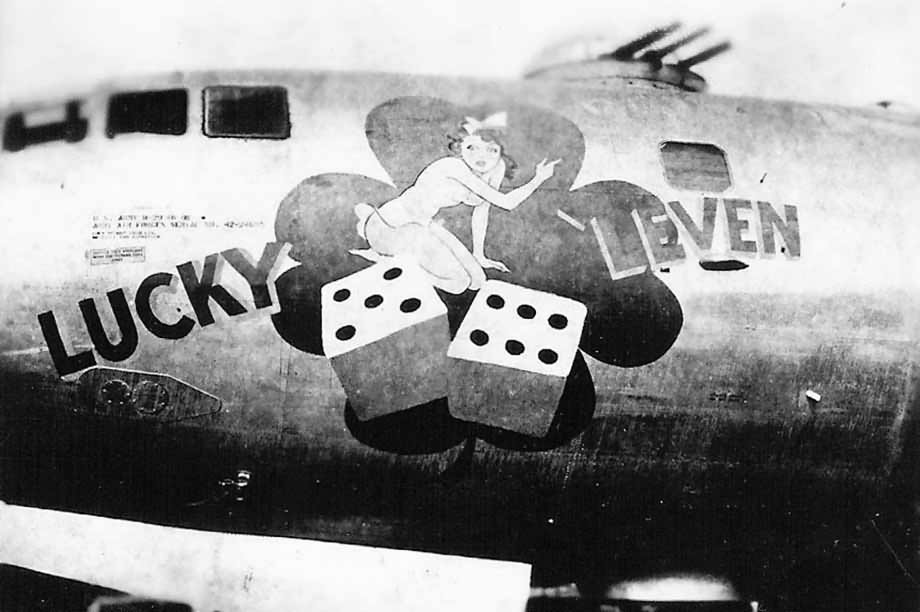 B-29 Bomber LUCKY LEVEN nose art