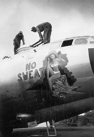 "B-29 Superfortress 44-87618 ""NO SWEAT"" of the 19th Bomb Group, 28th BS"