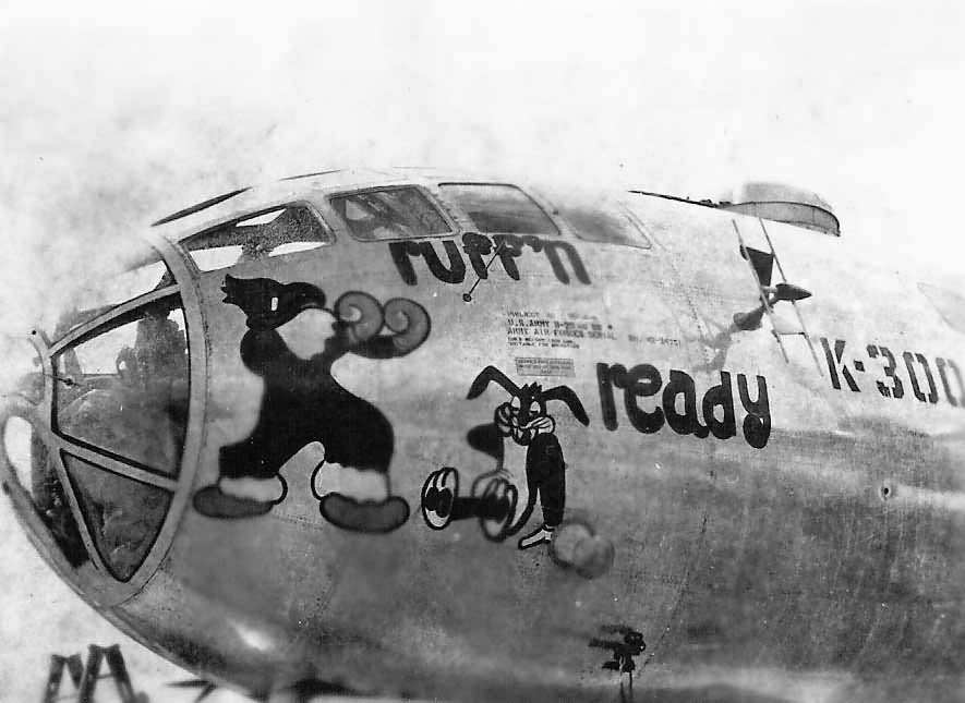 Boeing B-29 Superfortress Bomber RUFF'N READY nose art
