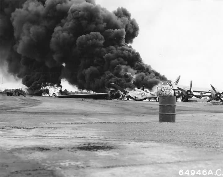 B-29 Superfortress crash Iwo Jima