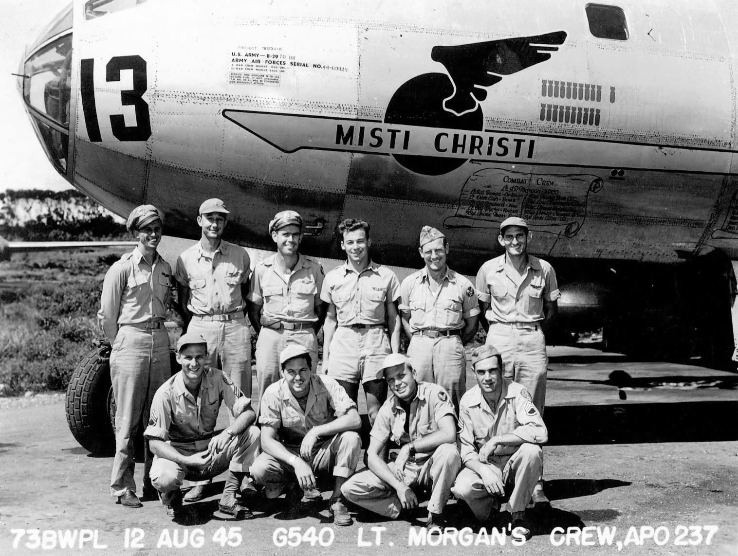 "Boeing B-29 Superfortress 13 44-69929 ""Misti Christi"" of the 497th Bombardment Group (Very Heavy) – Saipan"