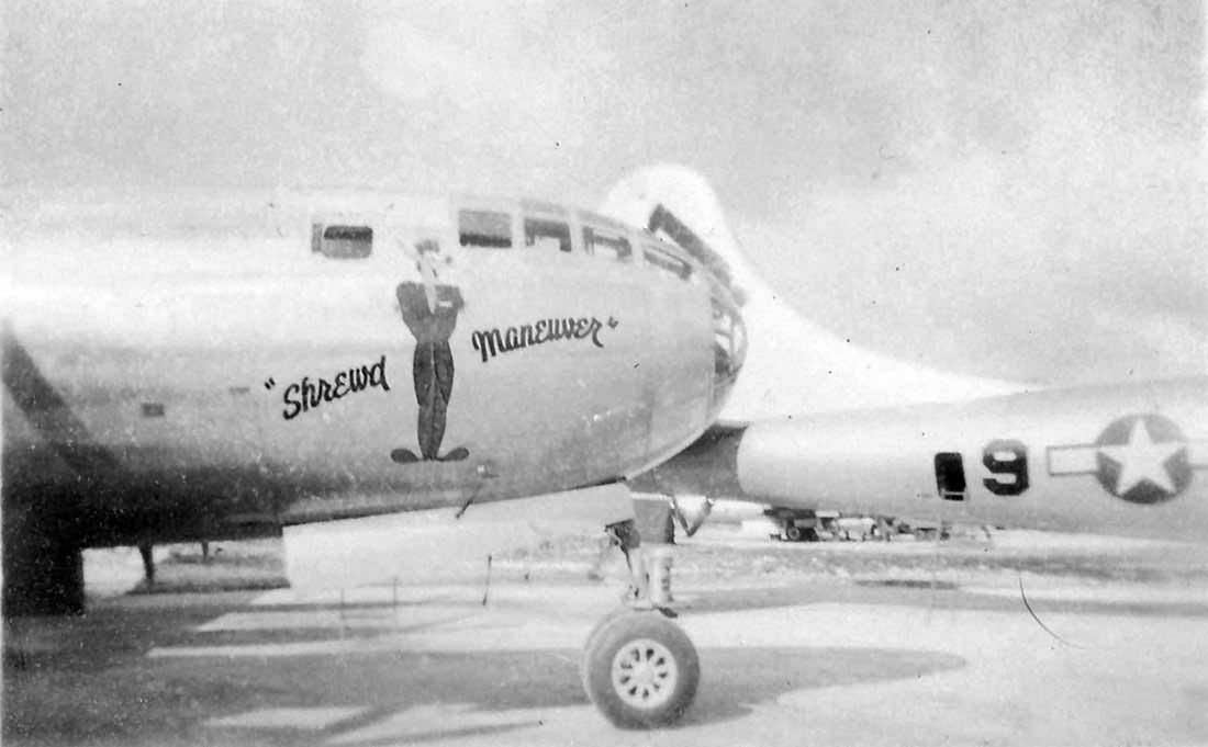 B-29 Shrewed Maneuvers nose art Guam