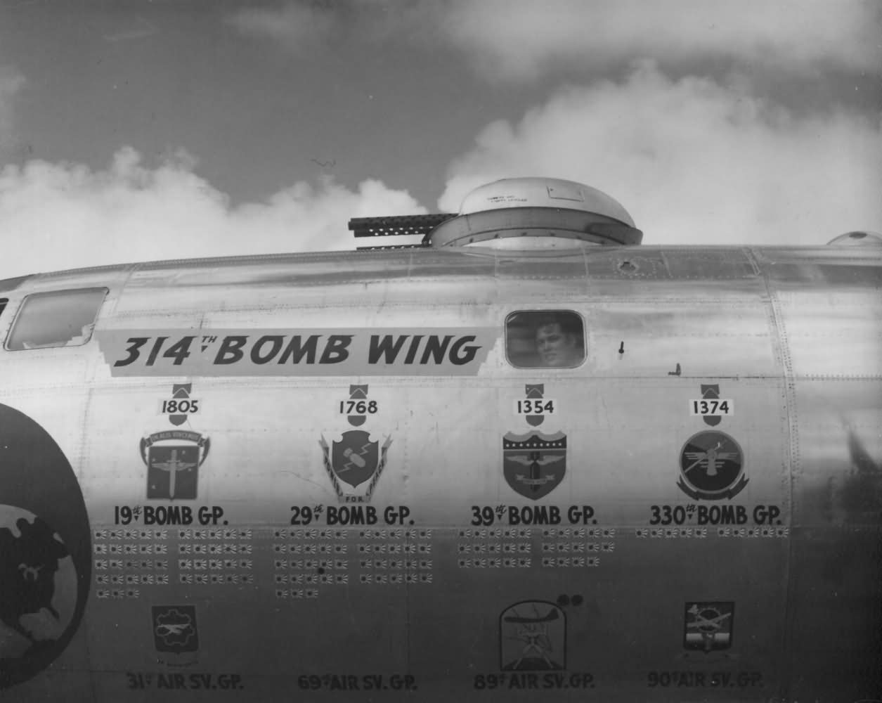B-29 Superfortress of 314th Bomb Wing at Guam 1945