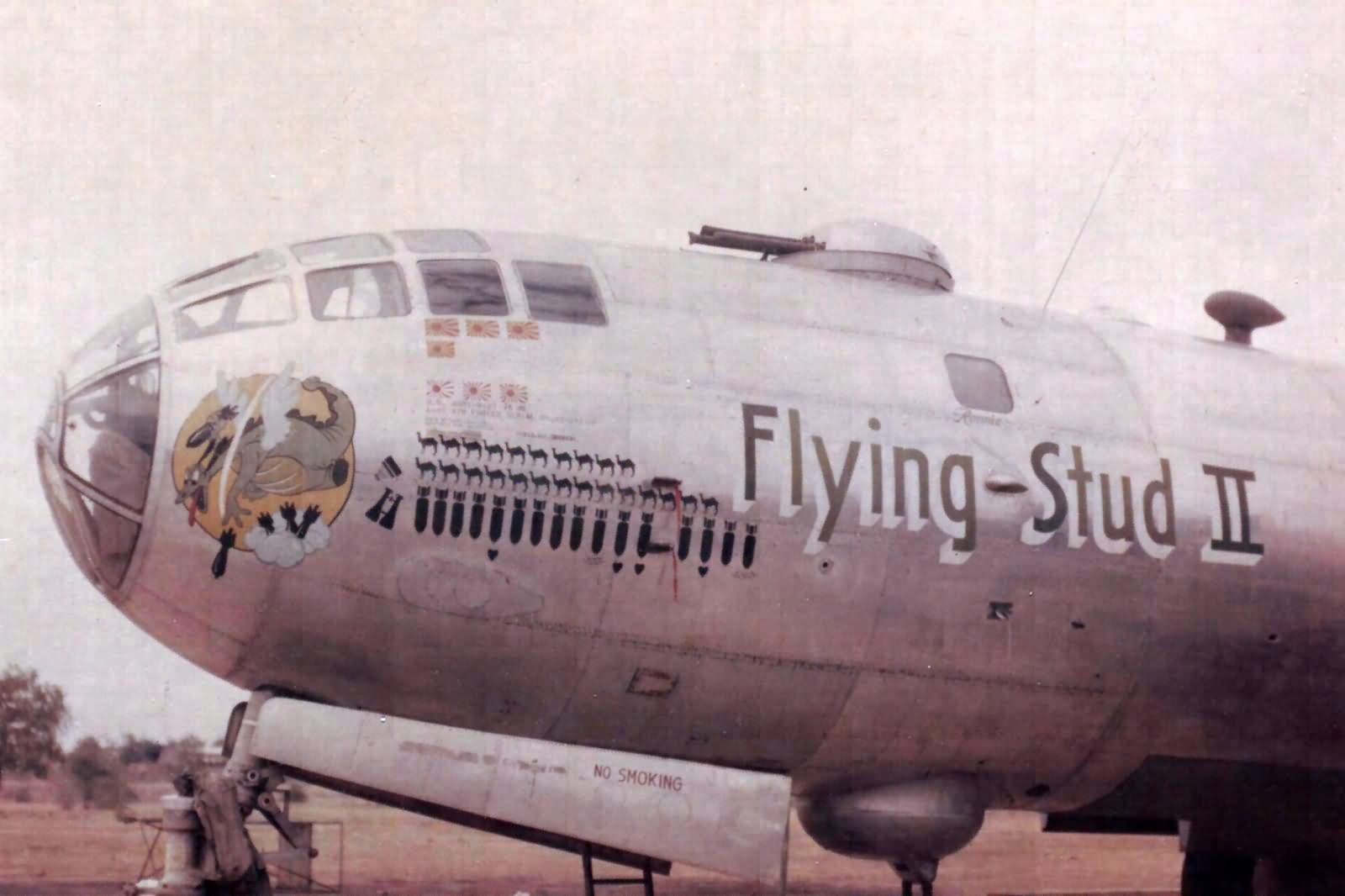 B-29 Superfortress 444th BG, 677th BS Flying Stud II nose Art 42-24464 China 1944