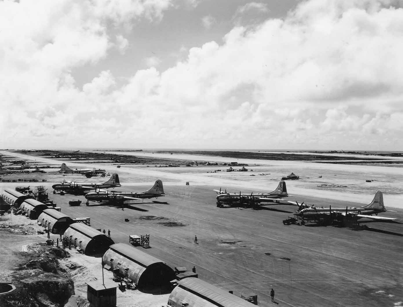 Boeing B-29 Superfortress Bombers On Tinian