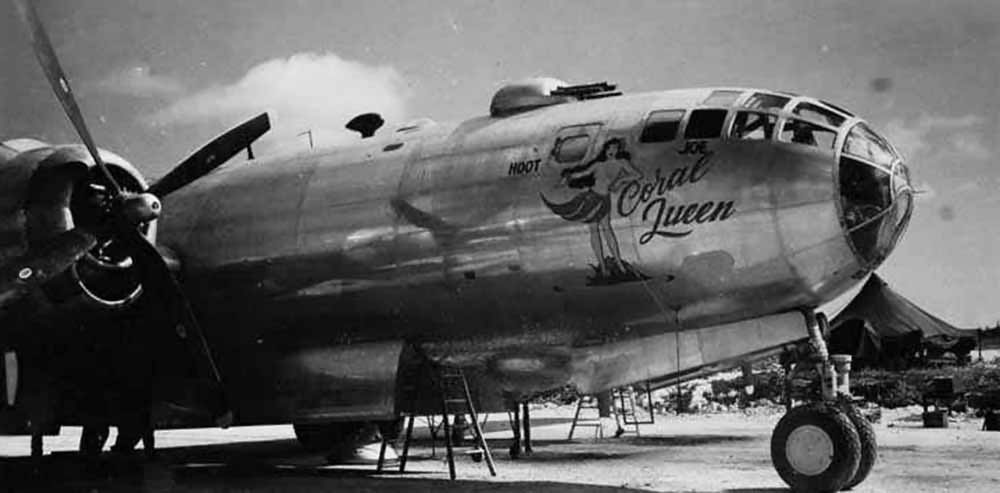 Boeing B-29 Superfortress Nose Art Coral Queen 504th Bomb Group 1945 42-63499