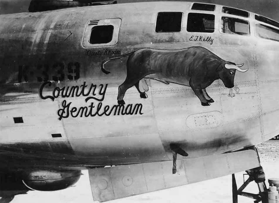 "Boeing B-29 Superfortress 42-24793 K-339 – Nose Art ""Country Gentleman"""