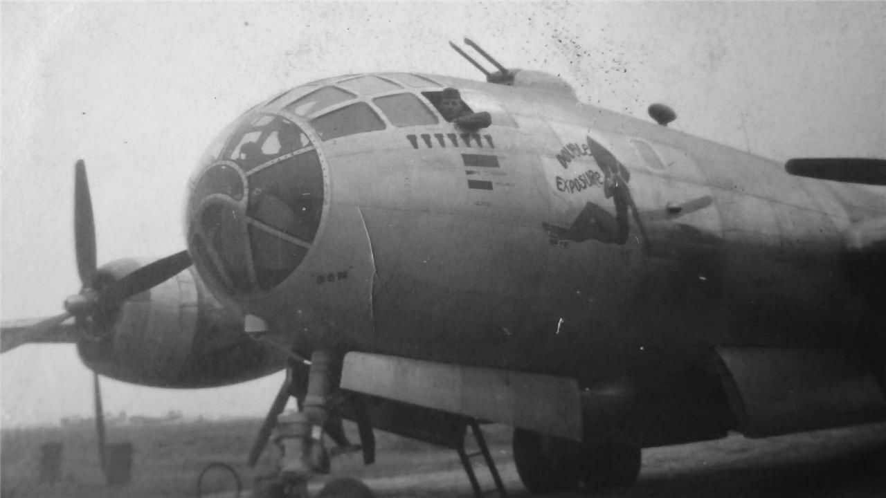 B-29 Superfortress Nose Art Double Exposure