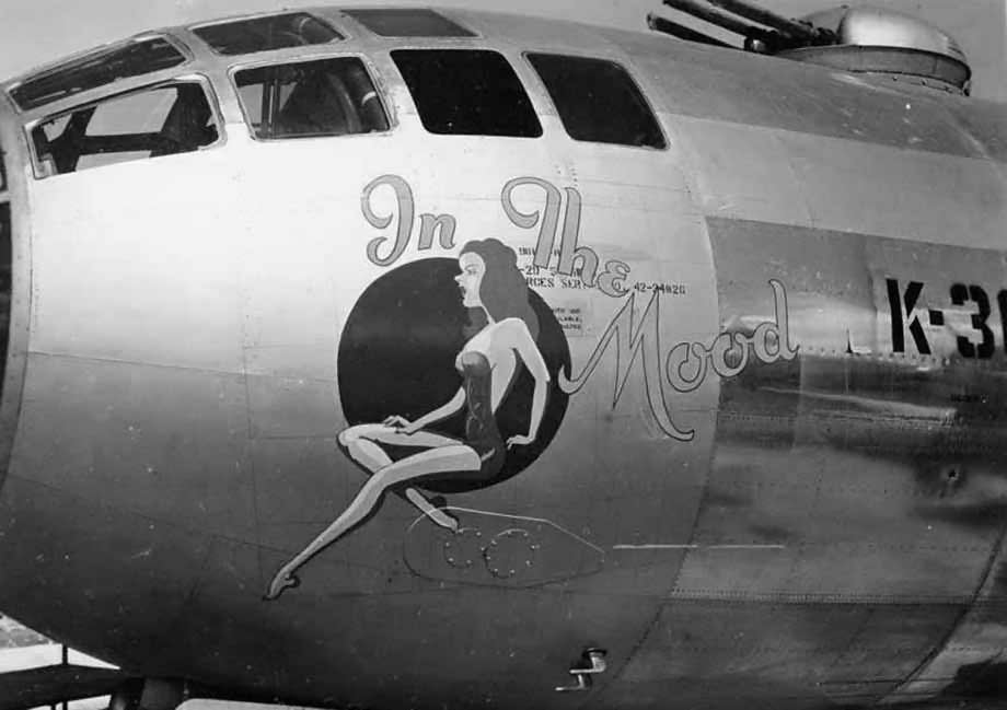 """Boeing B-29 Superfortress 42-24826 – Nose Art """"In The Mood"""""""