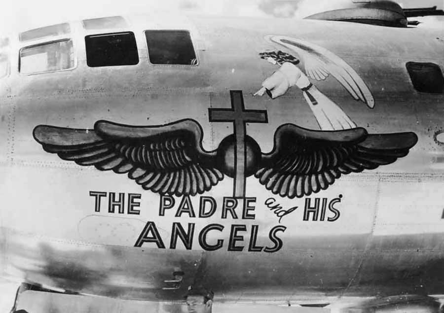 "Boeing B-29 Superfortress 42-24839 Nose Art ""The Padre And His Angels"""
