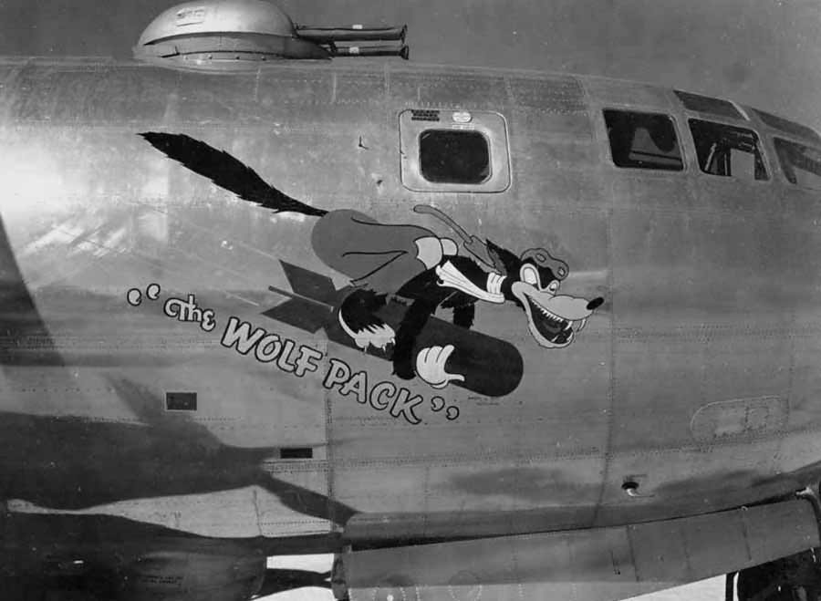 Boeing B-29 Superfortress 42-94063 from 6th BG, 24th BS – Nose Art The Wolfpack