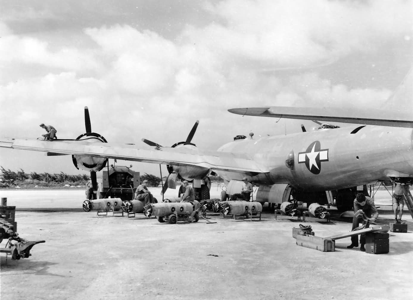 B-29 Superfortress bomber TINIAN airfield PTO