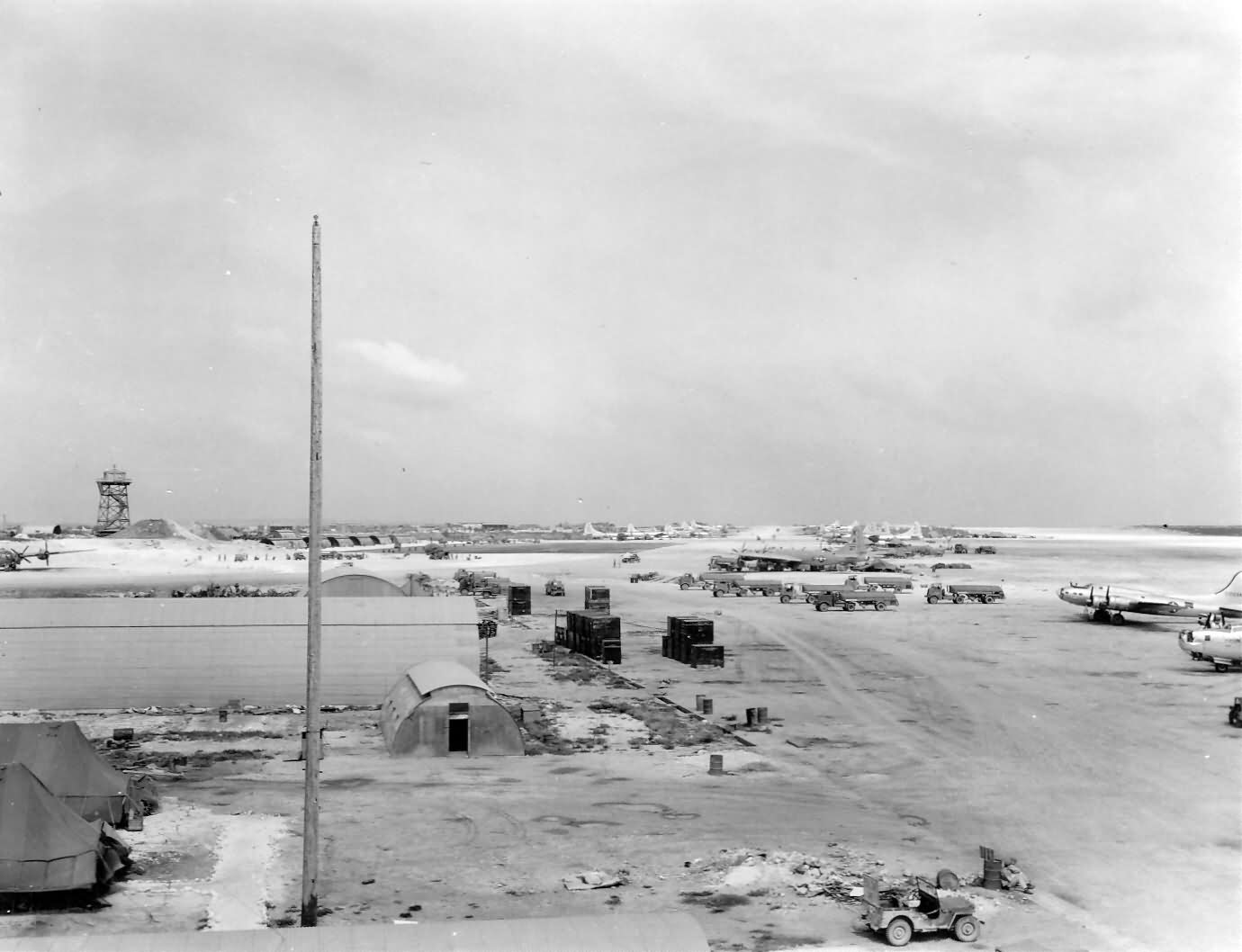 B-29 Superfortress bombers on TINIAN airfield Pacific PTO