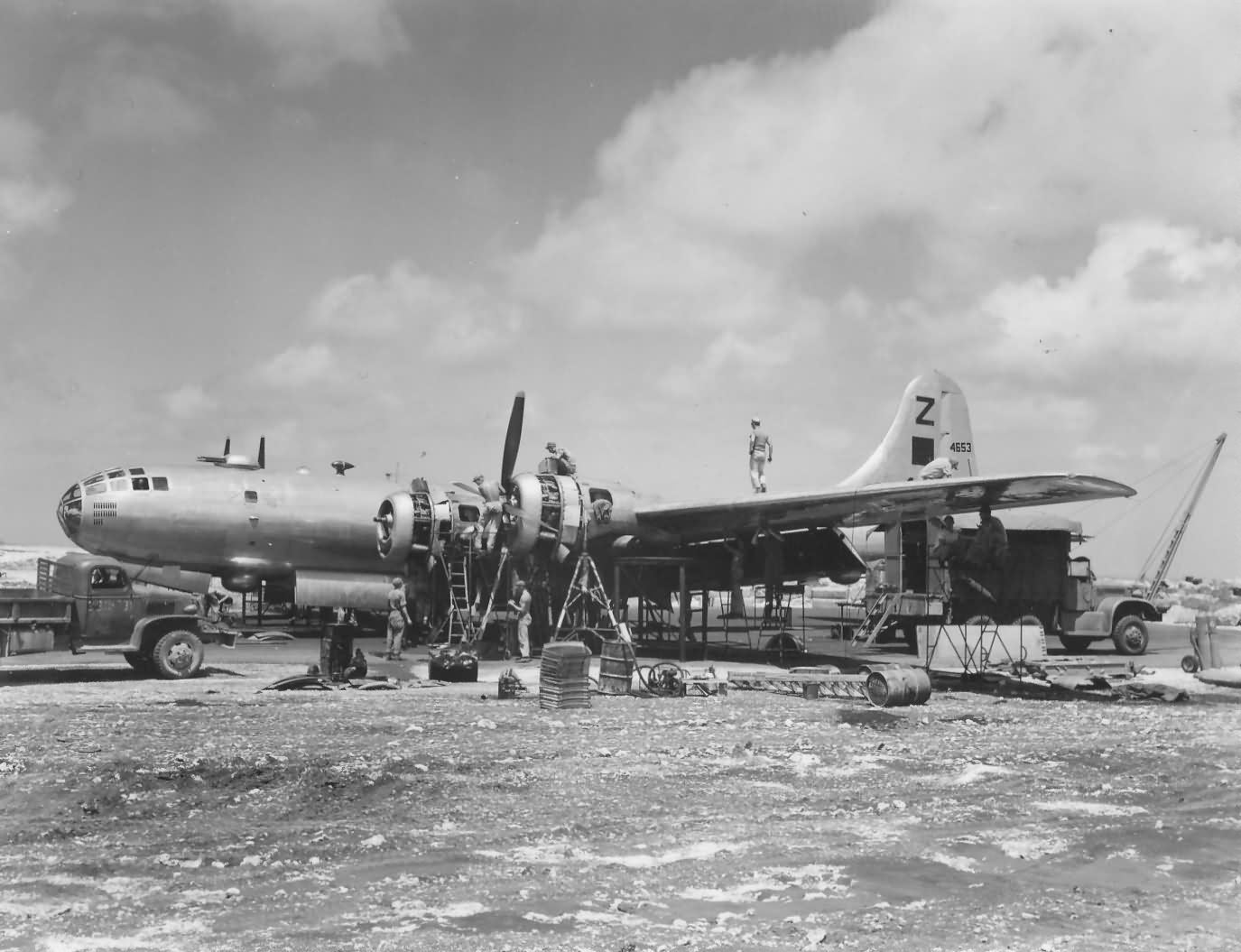 B-29 Superfortress 500th bomb group on SAIPAN