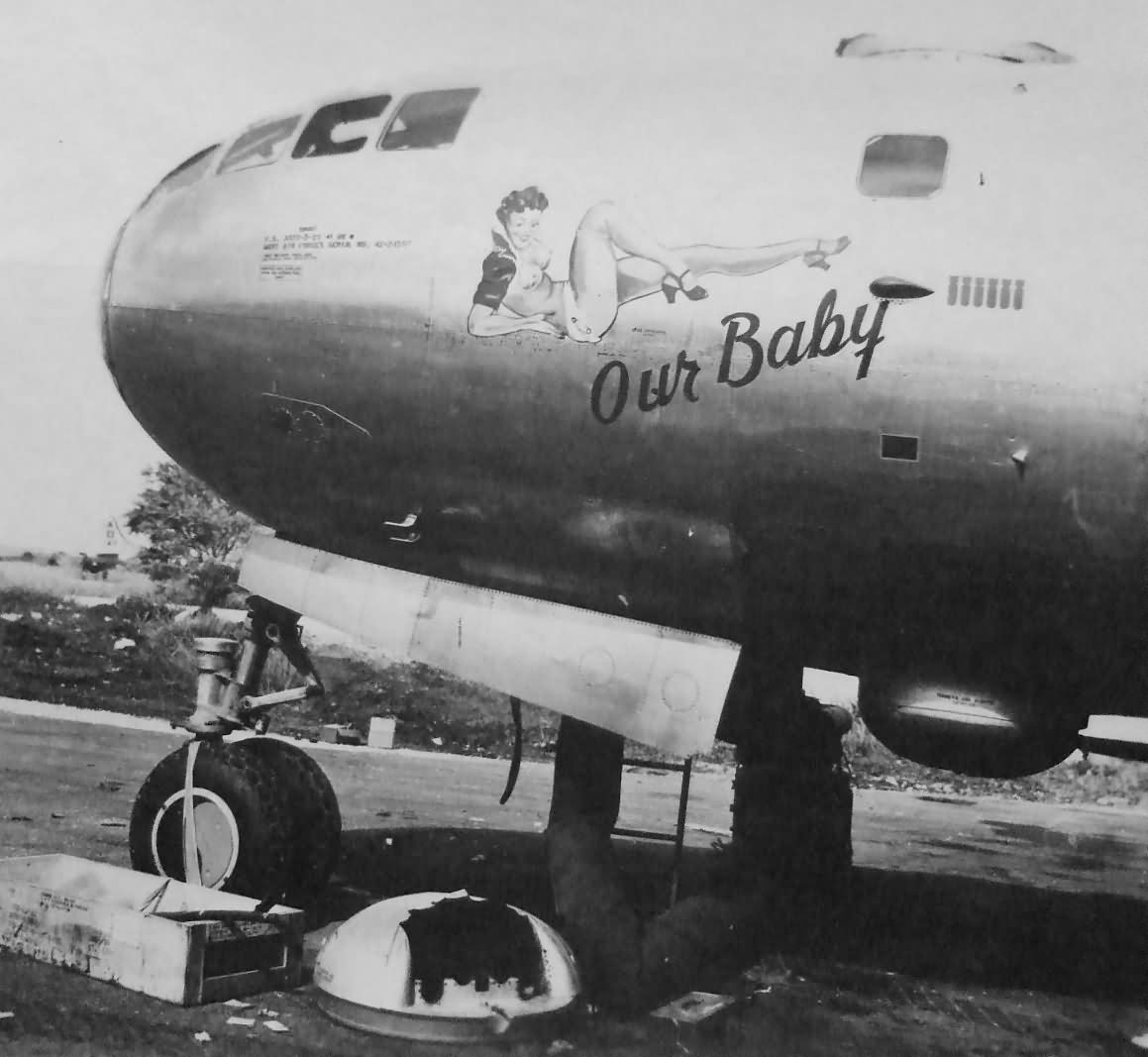 "B-29 Superfortress 42-24597 ""OUR BABY"" of the 497th Bomb Group 869th BS – Tinian 1945"