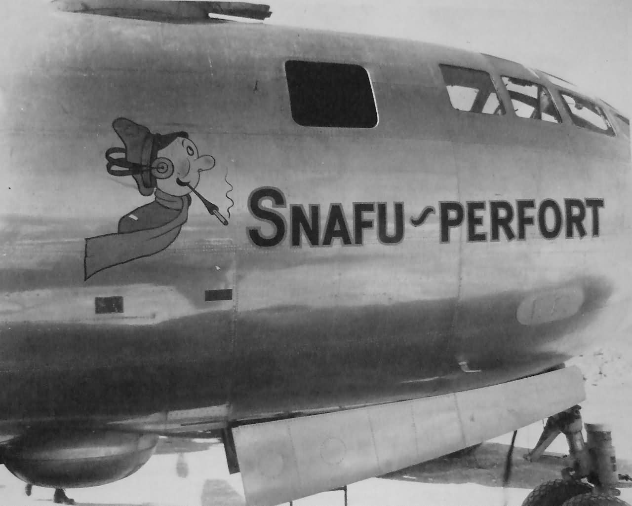 "B-29 Superfortress 42-63435 ""SNAFU PERFORT"" from 500th BG, 881st BS, Tinian 1945"