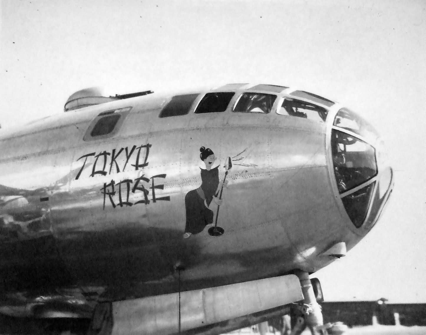 "B-29 Superfortress 42-93852 ""TOKYO ROSE"" of the 3rd Photo Reconnaissance Squadron (3 PRS) -Tinian 1945"