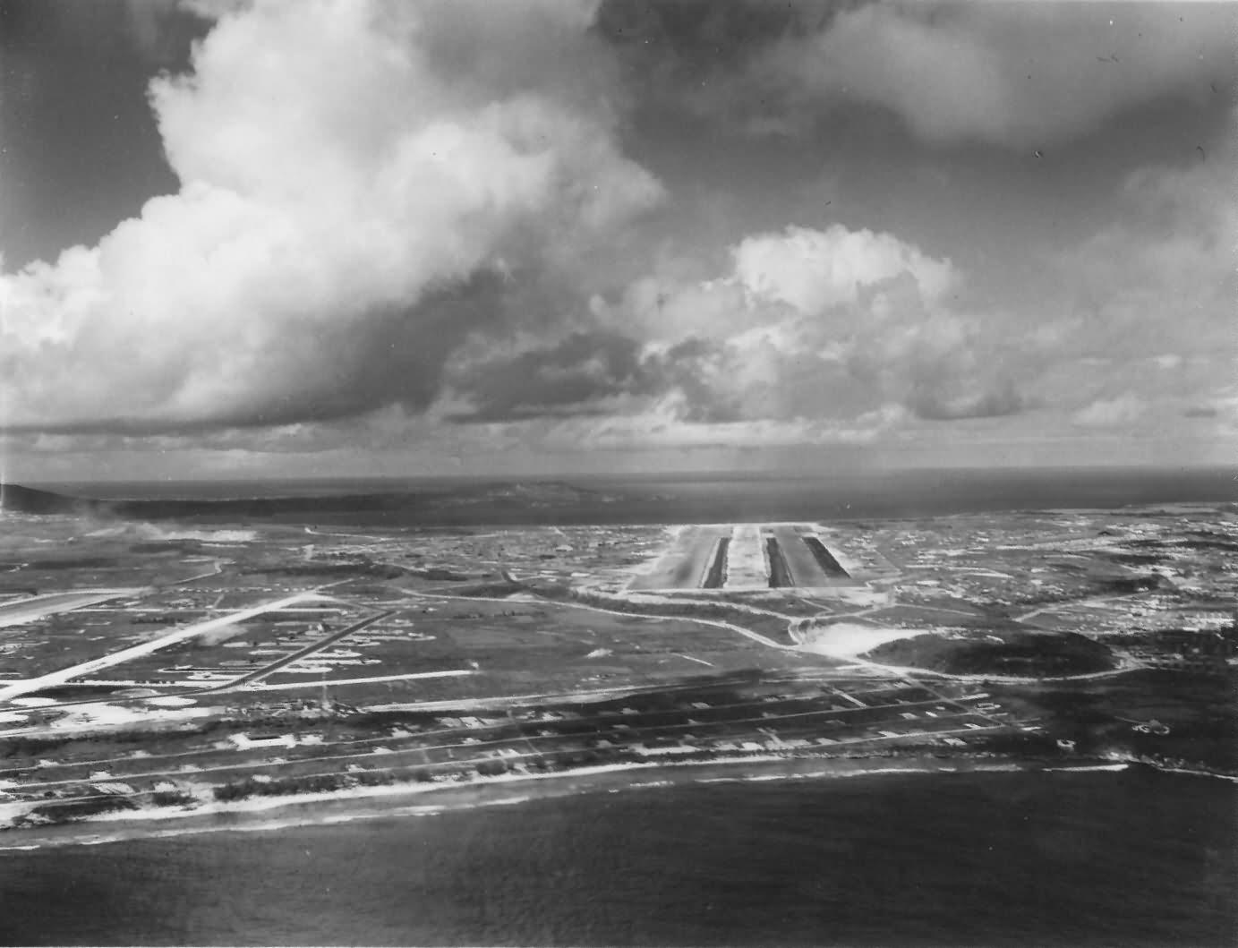 B-29 Superfortress bombers base Isley airfield on SAIPAN