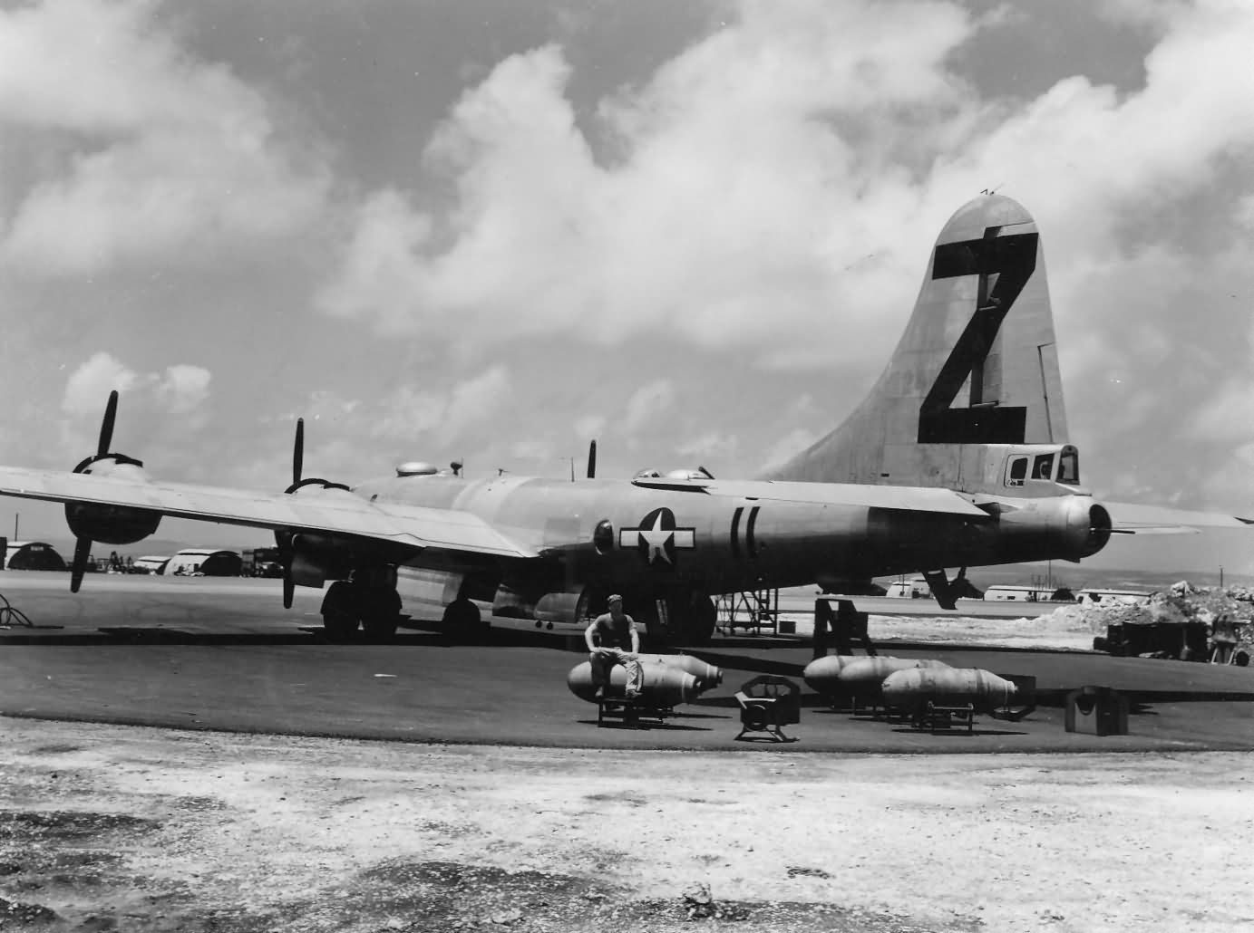 Boeing B-29 bomber Z 11 of 500th bomb group on SAIPAIN PTO