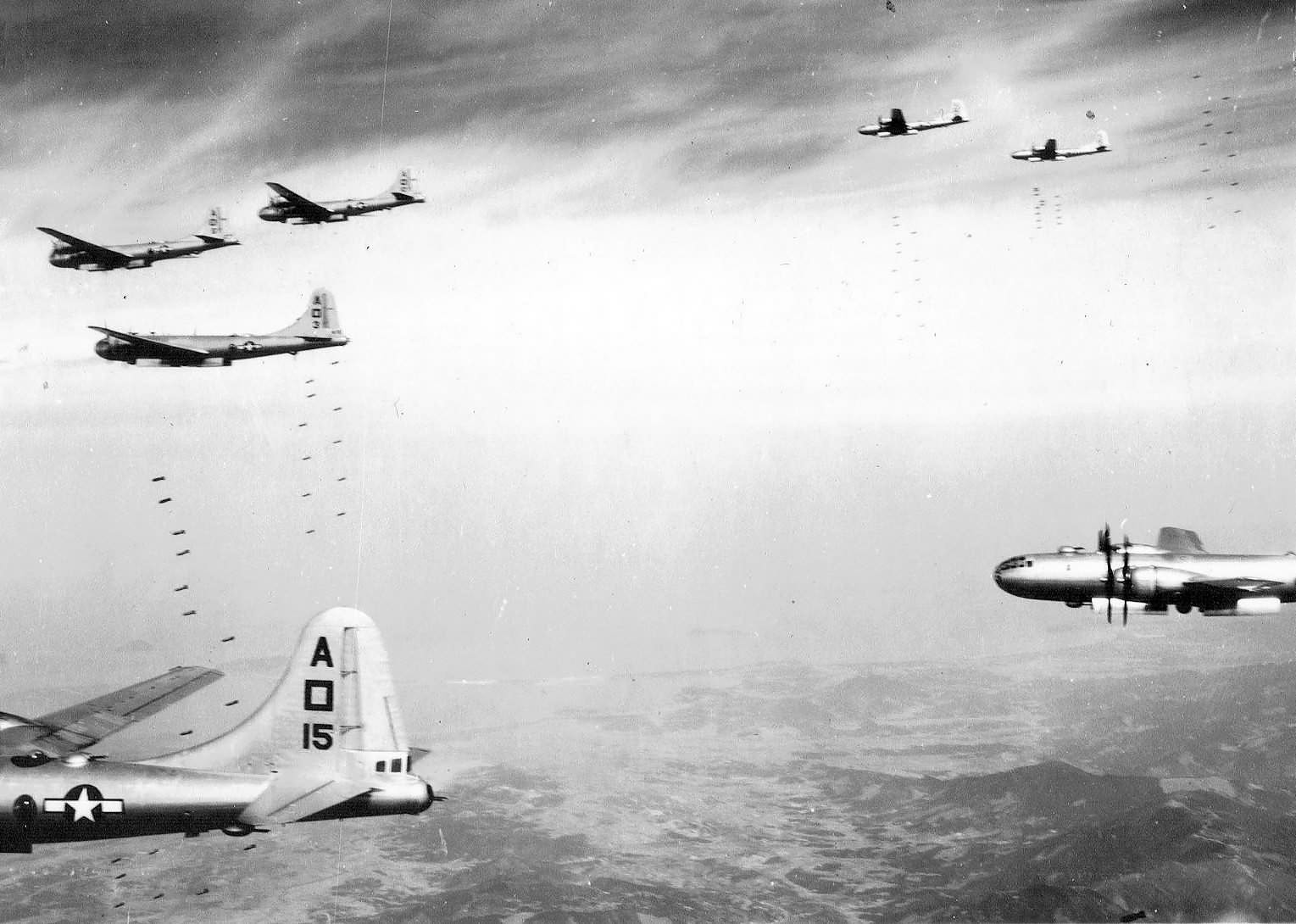 B-29 Superfortress A square 15 bombing a target