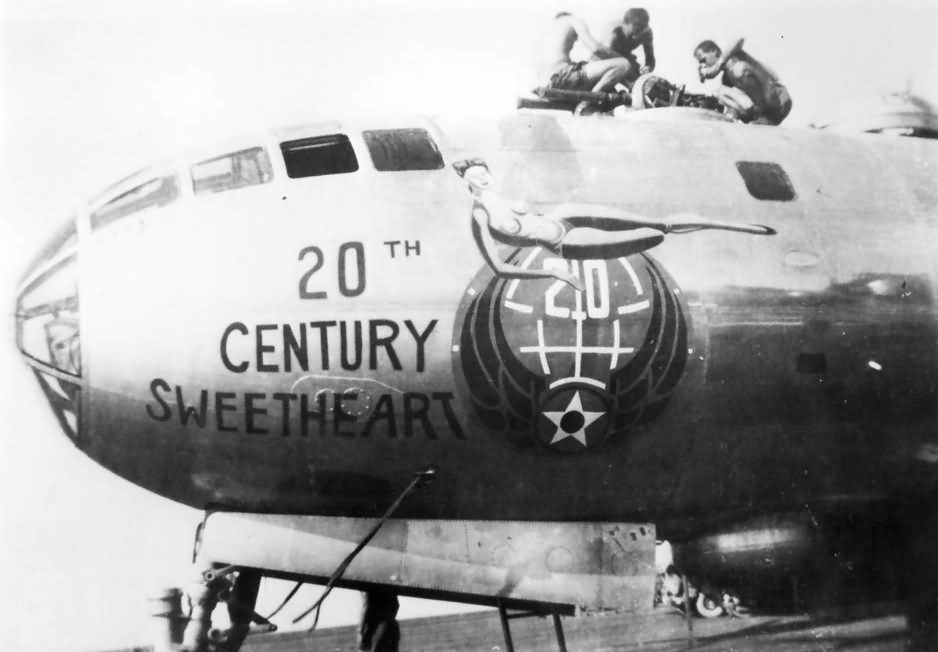 B-29 nose art 20th century sweetheart
