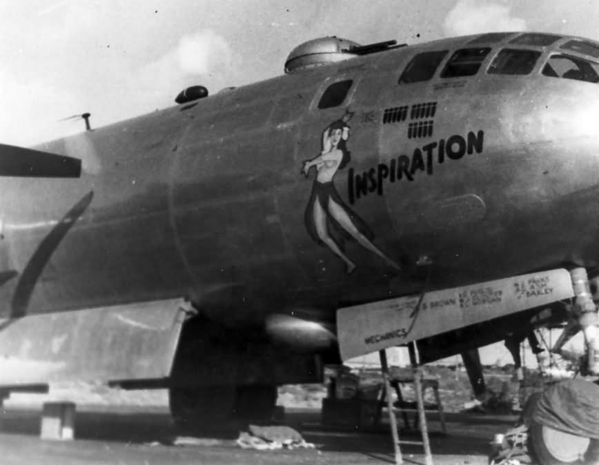 "B-29 Superfortress 42-63440 nose art ""Inspiration"""