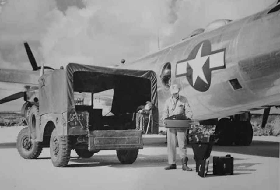 Boeing B-29 Superfortress on airfield