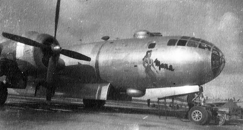 Boeing B-29 Superfortress Mona nose art