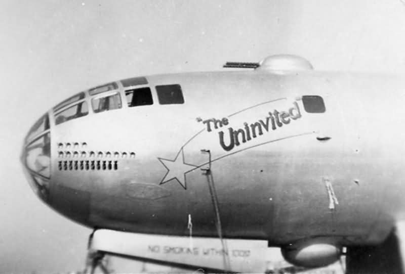 "Boeing B-29 Superfortress 44-69754 ""The Uninvited"" of 9th Bomb Group, 99th BS"
