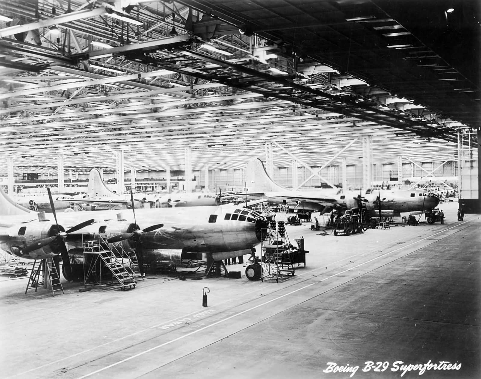 Boeing B-29 Superfortress in Boeing factory