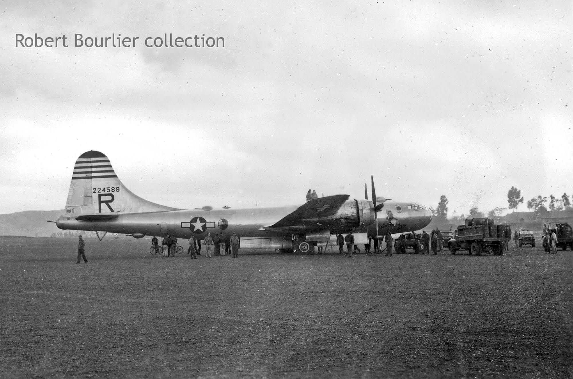 B-29-40-BW 42-24589 converted to F-13 from 25th BS, 40th BG after emergency landing at Chengkung Fighter Base