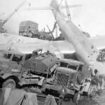 B-29 Superfortress after crash landing