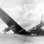 Boeing B-29 Superfortress crash landing